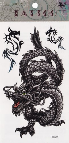 Temporary Tattoo Dragons Tattoo - 1