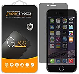 Supershieldz® iPhone 6 / 6S Privacy Anti-Spy Glass Screen Protector, [Tempered Glass] Ballistics 0.3mm 9H Hardness Featuring Anti-Scratch, Anti-Fingerprint, Bubble Free - Retail Packaging