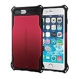 エレコム iPhone7 Plus ケース/ アイフォン7 プラス ZEROSHOCK スタンダード 耐衝撃 衝撃吸収フィルム付 ZEROSHOCK レッド  PM-A16LZERORD