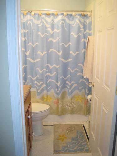 Seashell Beach Nautical Theme Shower Curtain Beach Bathroom Decor