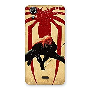 Special Hanging Web Multicolor Back Case Cover for Micromax Canvas Selfie Lens Q345