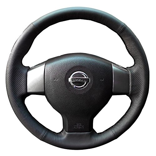 Leather Steering Wheel Cover for Nissan Versa Sedan Tiida 2007 2008 2009 2010 2013 (Tiida Steering Wheel Cover compare prices)
