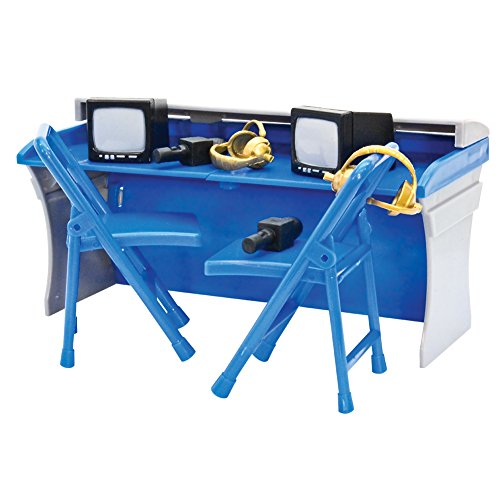 Blue & Gray Breakaway Commentator Table Playset for WWE Wrestling Action Figures