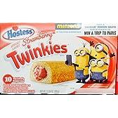 Hostess Strawberry Flavor Twinkies ホステスイチゴフレーバートゥインキーズ 380g [並行輸入品]