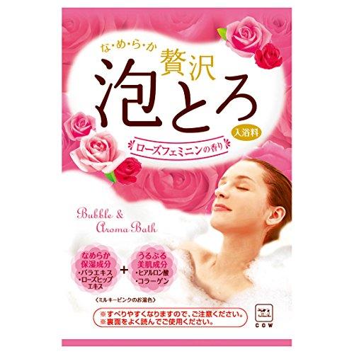 お湯物語 贅沢泡とろ 入浴料 フェミニンローズの香り 1包・30g