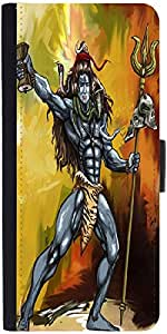 Snoogg Shiva Dumroo Designer Protective Flip Case Cover For Samsung Galaxy Me...