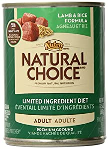 NATURAL CHOICE Limited Ingredient Diet Adult Lamb and Rice Formula Premium Ground - 12.5 oz. (355 g)