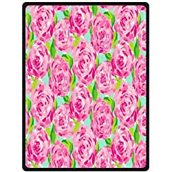 Fashion press Creative Blanket Lilly Pulitzer Blanket 58x80 Inch Fleece Blanket Sheet Throw Bedding Blanket Fleece Throw Blanket Baby Blanket Travel Blanket Indoor / Outdoor