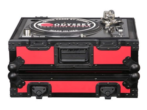 Odyssey FR1200BKRED SL-1200 Turntable Case  Single Turntable