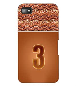 PrintDhaba Numerology Number 3 D-3635 Back Case Cover for BLACKBERRY Z10 (Multi-Coloured)