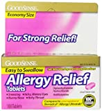 Good Sense Allergy Relief, Diphenhydramine HCL Antihistamine, 25 mg, 100 Count