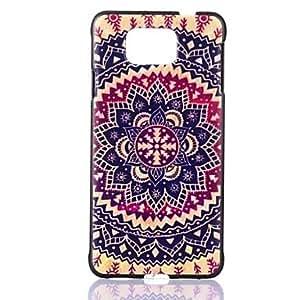 GENERIC Flowers of Folk Style Pattern PC Hard Case for Samsung Galaxy Alpha G850 /G850F #02455875
