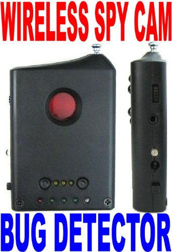 Wolfcom's Wireless Spy Camera Bug Scanner Sweeper Detector and Spy Hidden Camera Lens Finder