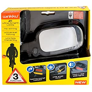 Wiki Winkku Bicycle Right Handed Lights Mirror and Indicators