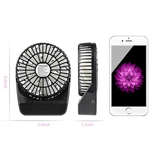 Small Travel Fan : D fantix inch mini portable fan speeds rechargeable