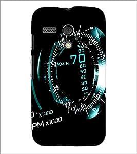 PrintDhaba SpeedoMeter D-1162 Back Case Cover for MOTOROLA MOTO G (Multi-Coloured)