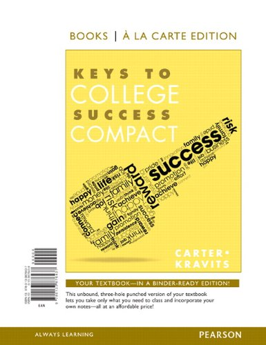 Keys to College Success Compact, Student Value Edition