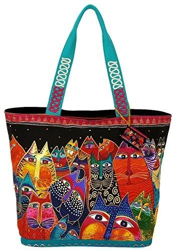 laurel-burch-shoulder-tote-zipper-top-19-1-2-inch-by-6-3-4-inch-by-15-inch-fantasticats