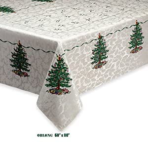 Spode Christmas Tree Fabric Tablecloth