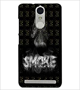 PrintDhaba Smoke D-5993 Back Case Cover for LENOVO K5 NOTE (Multi-Coloured)