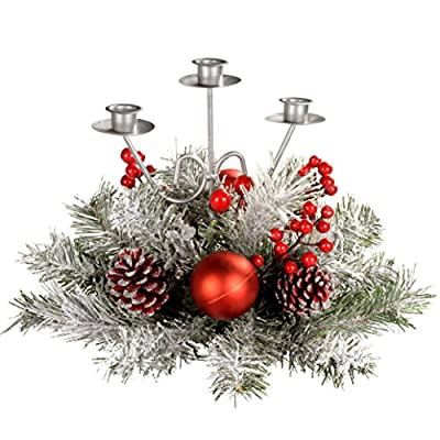Christmas Frosted Candle holder Table Arrangement By WeRChristmas