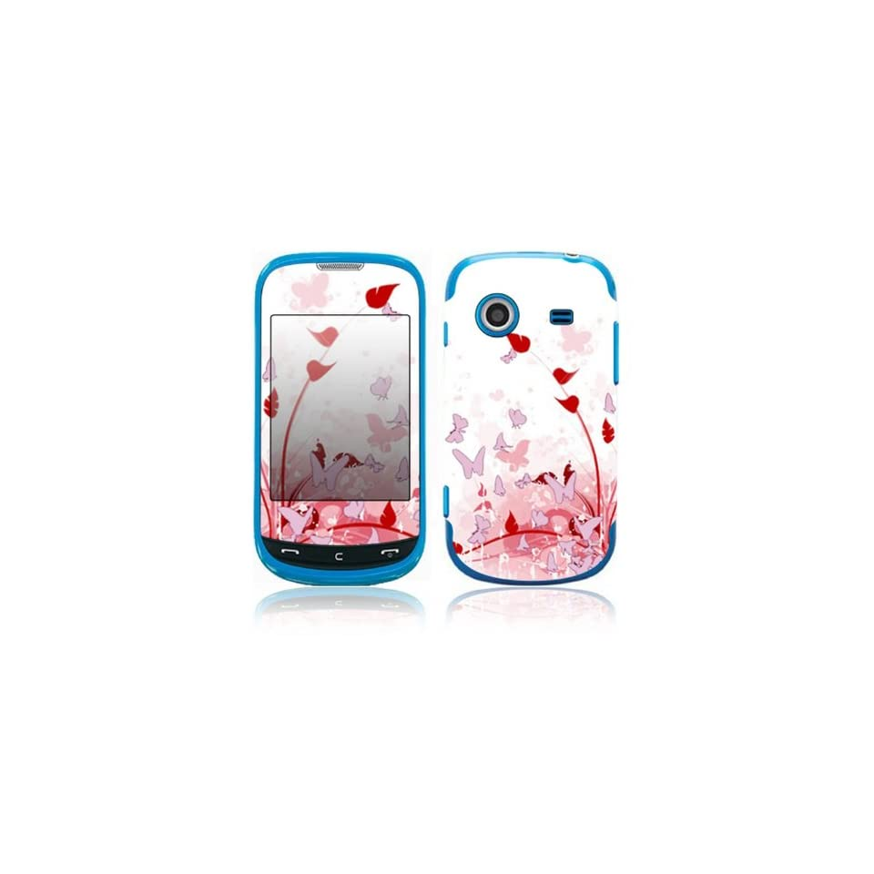 Pink Butterfly Fantasy Decorative Skin Cover Decal Sticker for Samsung Character SCH R640 Cell Phone