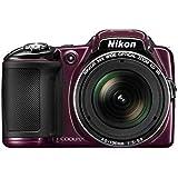 "Nikon Coolpix L830 - Cámara compacta de 16.79 Mp (pantalla de 3"", zoom óptico 34x, vídeo Full HD), morado"