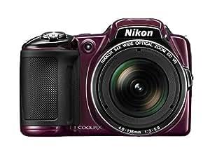 """Nikon CoolpixL830 Appareil photo numérique compact 16,8 Mpix Écran LCD 3"""" Zoom optique 34X Prune"""