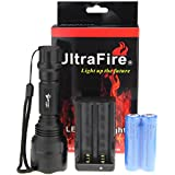 UltraFire® CREE T6 LED 5-Mode C8 Flashlight Torch Lamp (With Batteries and Charger)
