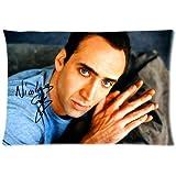 1 X Cartrol Cotton & Polyester Custom Pillowcase-Custom Nicolas Cage Pillowcase Standard 20x30 (one side) Pillow Cover