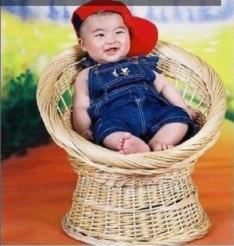 Newborn Baby Infant Photography Prop Handmade Woven Basket D-15