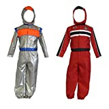 Boys Kids Childrens Astronaut Racing Driver 2in1 Reversible Fancy Dress Costume 3-5 Years