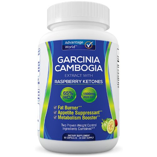 Fat Burner - Pure Garcinia Cambogia Extract Plus Raspberry Ketones With 65% Hca. A Powerful Appetite Suppressant And Metabolism Booster. Two Of The Best Weight Loss Supplements Combined! A Select Blend Of Natural Organic Ingredients. A Lose Weight Fast! -