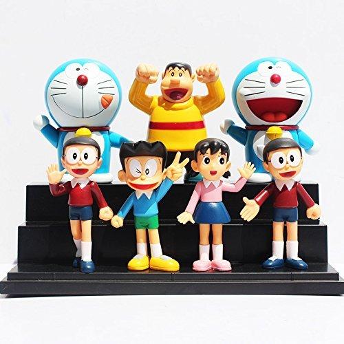 Doraemon Figures Toys (7pcs/set 10cm) Nobita Sizuka Takeshi PVC Figure Dolls