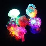 SHINA 12 piezas multicolores Anillo de LED para estilo Bumpy Jelly para Fiestas Disfraces Raves Regalos Bolsos (Tipo 2)