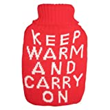 Warm Tradition Keep Warm and Carry On Knit Covered Hot Water Bottle - Bottle Made in Germany
