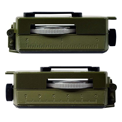 Military Prismatic Sighting Compass w/ Pouch
