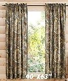 """Realtree Xtra Camo 40""""x 63"""" Curtain Panel, Set of 2 by Realtree [並行輸入品]"""