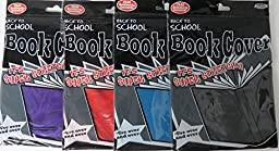 4 Pack of Stretchable Book Covers