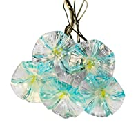 Blue Flowers Solar LED String Lights - Exterior Lights for Yard or Patio Product SKU: SO10136