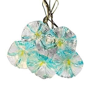 Amazon Com Blue Flowers Solar Led String Lights