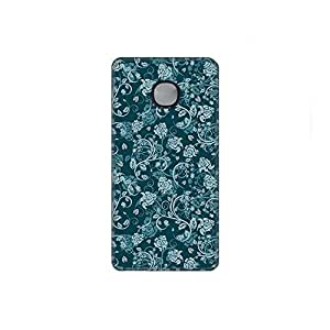 Vibhar printed case back cover for Microsoft Lumia 540 BlueBeige