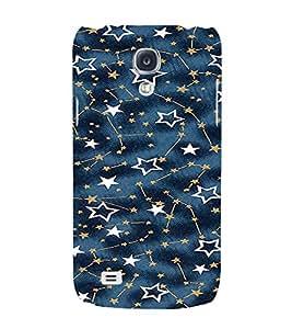 PrintVisa Star Pattern 3D Hard Polycarbonate Designer Back Case Cover for Samsung Galaxy S4