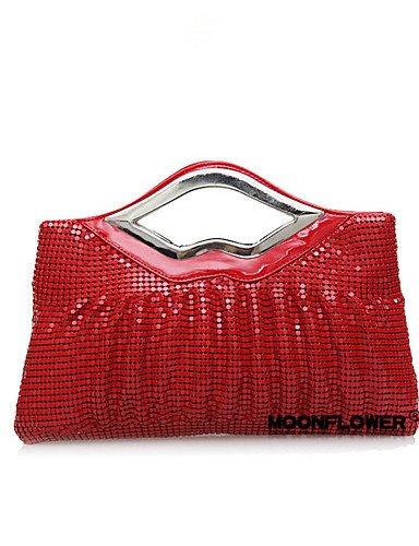 Da Wu Jia Mesdames sac à main de luxe de haute qualité/Women-Event Wedding-Glitter / parti / Metal / Satin-Clutch-Or / rouge / argent / noir / gris
