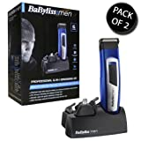 2x BaByliss 7057U For Men Professional 6-in-1 Grooming Kit