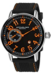 Stuhrling Original Men's 229A2.331657 Classic Legacy de Novo Automatic Date Black Rubber Strap Watch