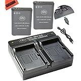 BM Premium 2 Pack of EN-EL23 Batteries and USB Dual Battery Charger for Nikon Coolpix B700, P900, P600, P610, S810c Digital Camera