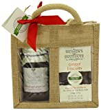 The Women's Institute Duo Jute Gift Bag with Rhubarb and Ginger Jam