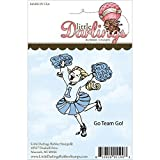 Little Darlings Unmounted Rubber Stamp-Go Team Go