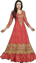 DHAWANI MARKETING RED DESIGNER DRESS MATIREAL